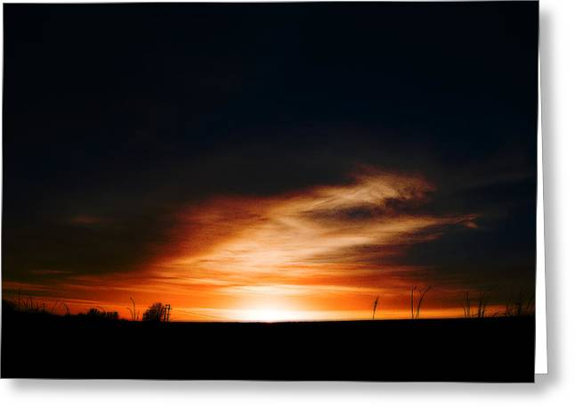 Sunrise Sunset Swiftly Flow The Days... Greeting Card by Ove Rosen