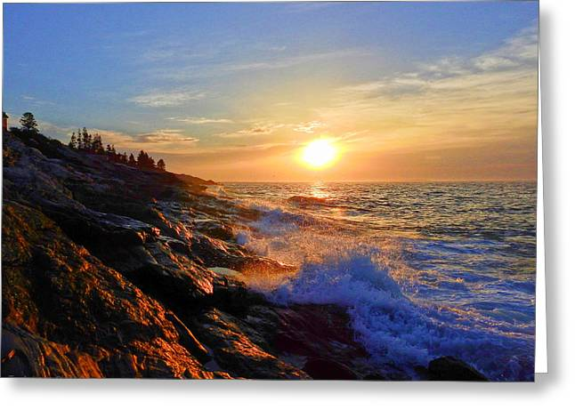 Sunrise Surf Greeting Card