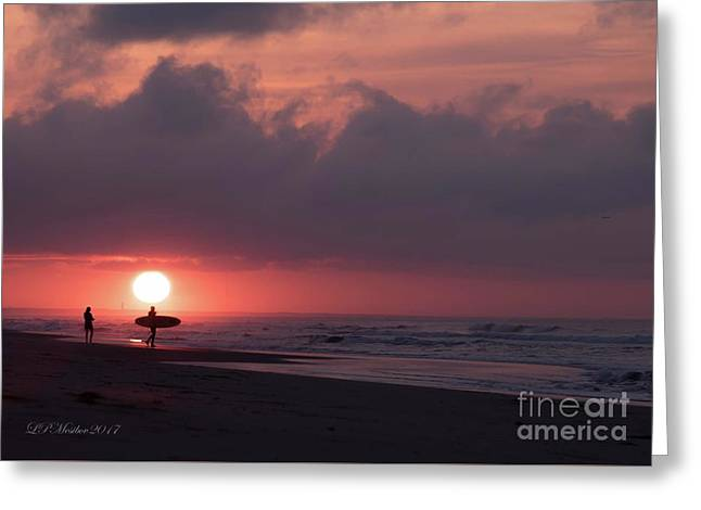 Sunrise Surfer Greeting Card