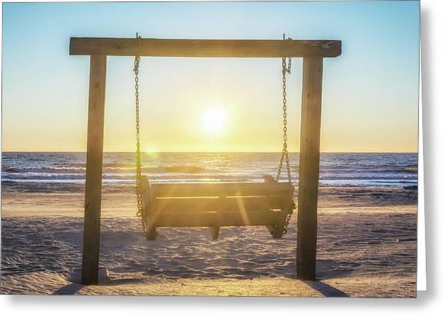 Sunrise Swings Greeting Card