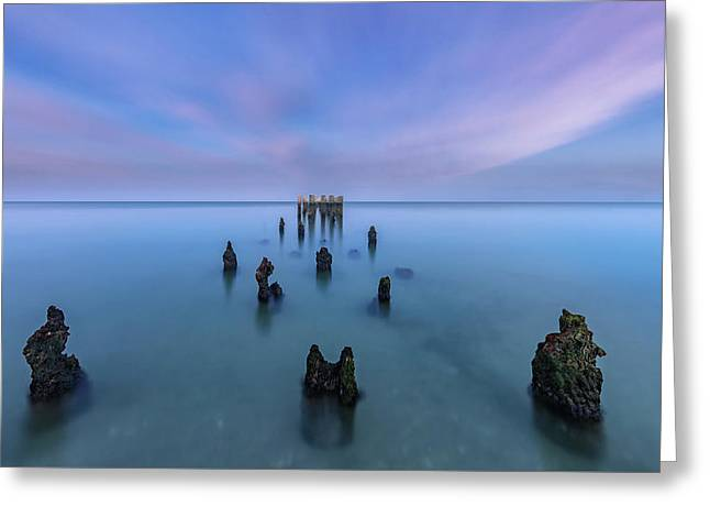 Greeting Card featuring the photograph Sunrise Symmetry by Mike Lang