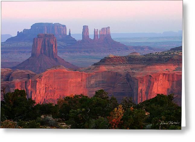 Sunrise Telephoto From Hunt's Mesa Greeting Card