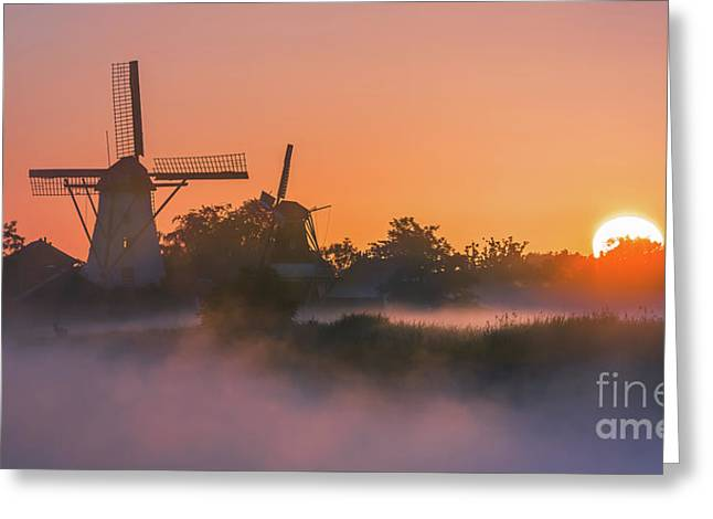 Sunrise Ten Boer - Netherlands Greeting Card