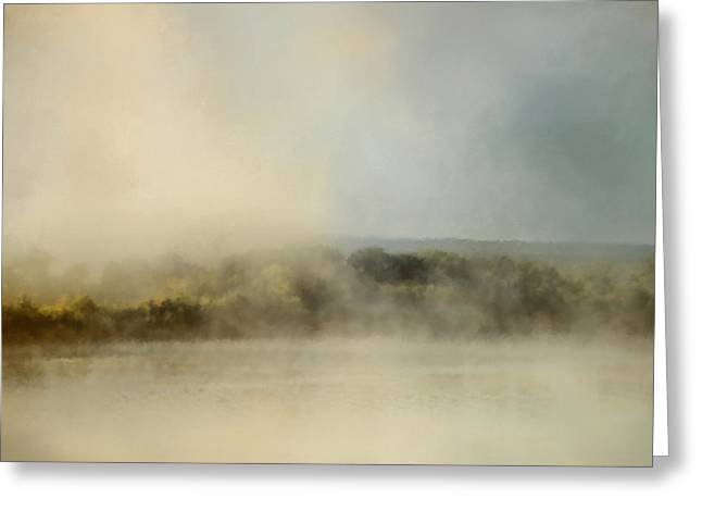 Sunrise Through The Fog Greeting Card by Jai Johnson