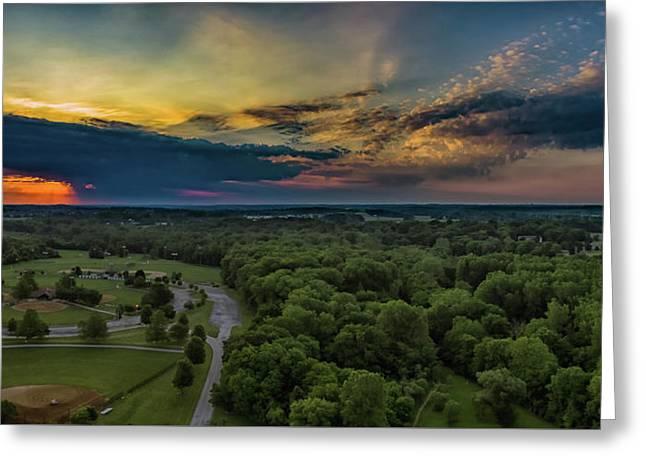 Sunrise Thru The Clouds Greeting Card