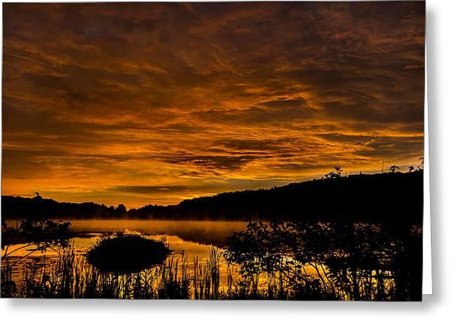 Sunrise Torpy Pond Greeting Card