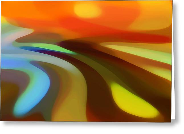 Sunrise Valley Greeting Card by Amy Vangsgard