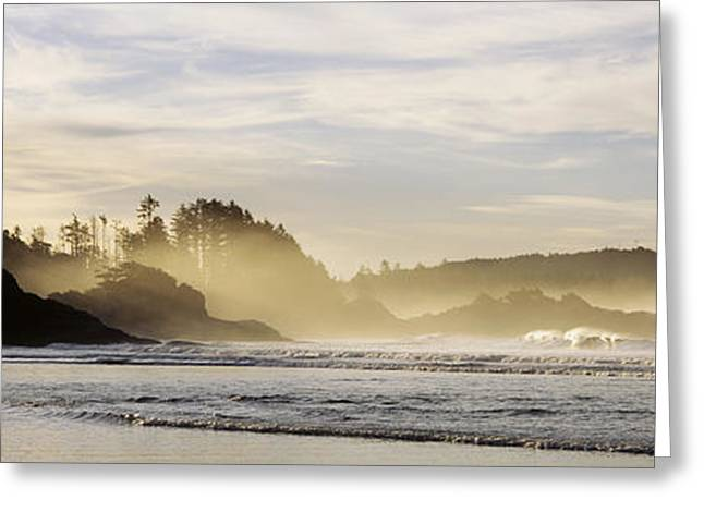 Sunrise Vancouver Island British Greeting Card by Panoramic Images