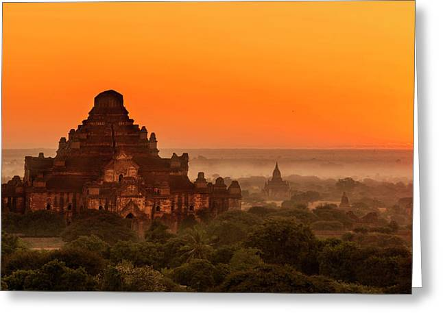Sunrise View Of Dhammayangyi Temple Greeting Card