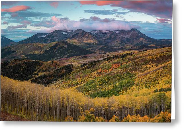 Sunrise View Of Mount Timpanogos Greeting Card