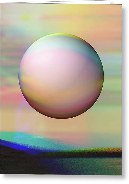 Greeting Card featuring the digital art Sunrise Visitor by Wendy J St Christopher