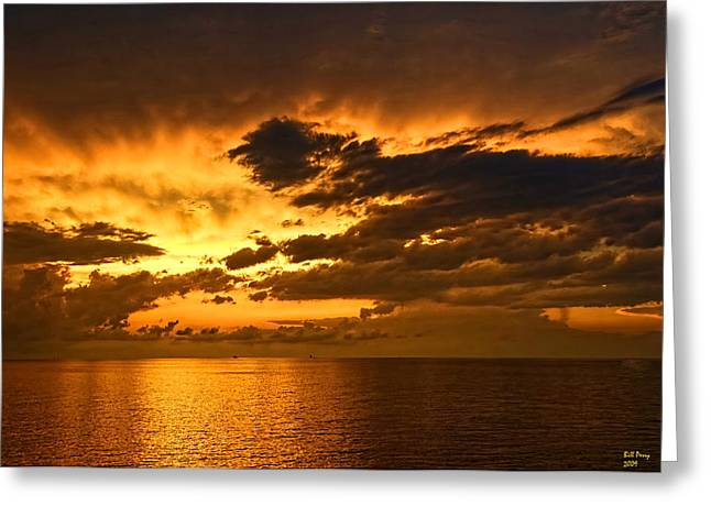 Sunrise With A Rain Shower Greeting Card by Bill Perry