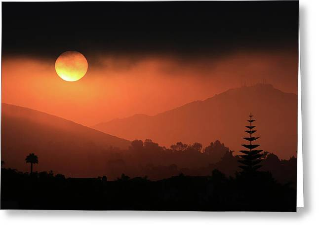 Sunrise With Coastal Fog Greeting Card by Robin Street-Morris