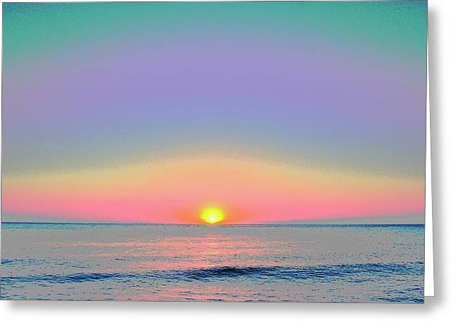 Sunrise With Digits Greeting Card by Cloe Couturier