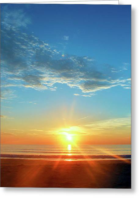 Sunrise With Flare Greeting Card