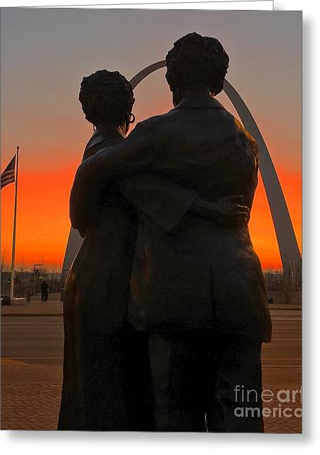 Sunrise With The Scotts 1 Greeting Card by Debbie Fenelon