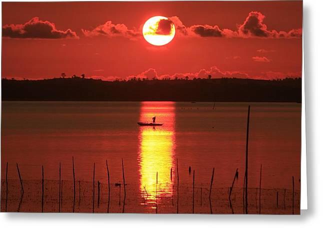 Sunrise Greeting Card by Yuli Seperi