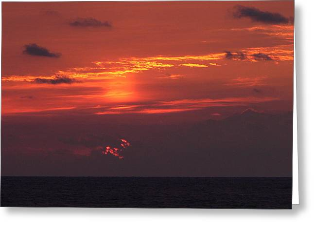 Sunrising Out Of Clouds Greeting Card by Tom LoPresti