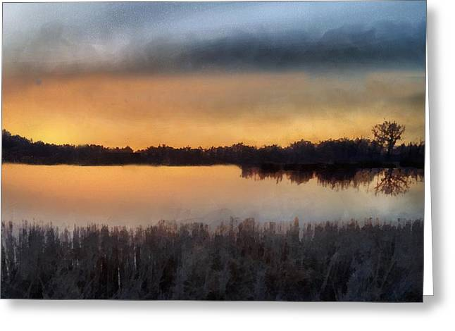 Sunrise On A Frosty Marsh Greeting Card by RC deWinter