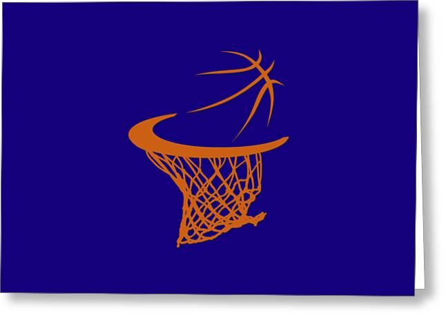 Suns Basketball Hoop Greeting Card
