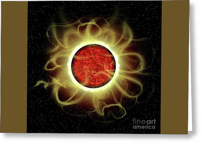 Sun's Magnetic Field Greeting Card