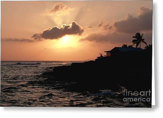 Sunset @ Spotts Greeting Card by Amar Sheow