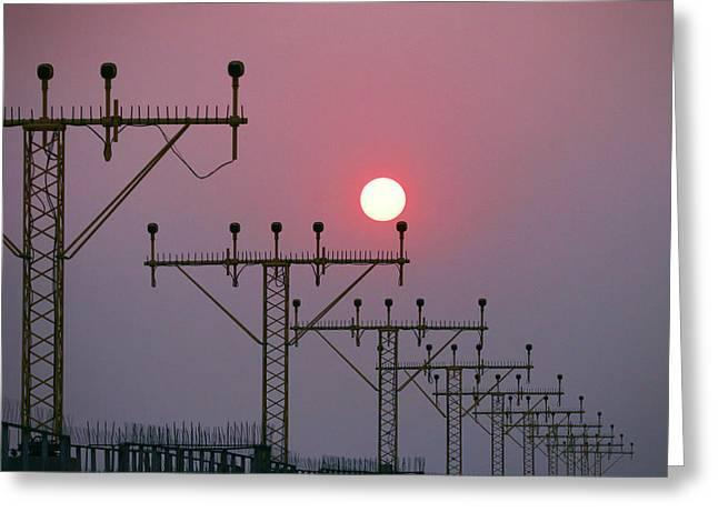 Sunset 003 Greeting Card by Kam Chuen Dung