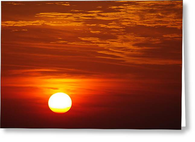 Sunset 11 Greeting Card by Don Prioleau