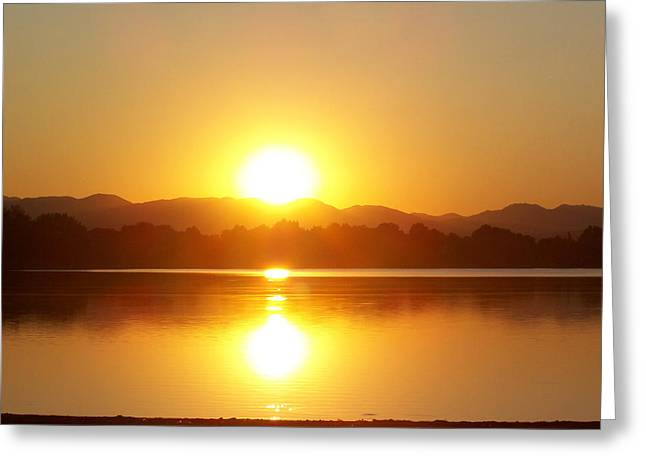 Sunset 2 Greeting Card by Travis Wilson