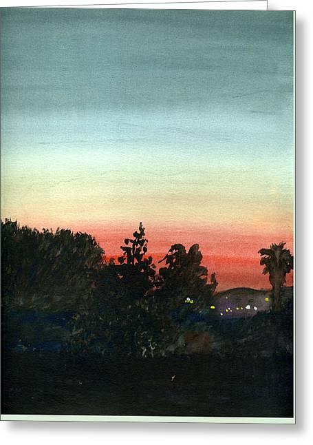 Sunset #26 Lemon Grove Greeting Card