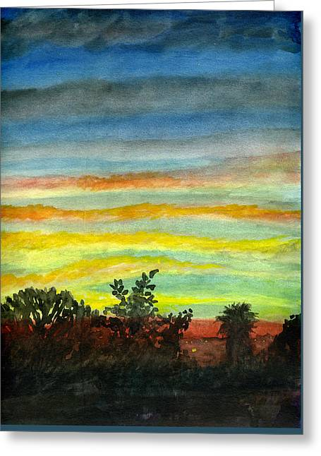 Sunset #27 Backyard Greeting Card