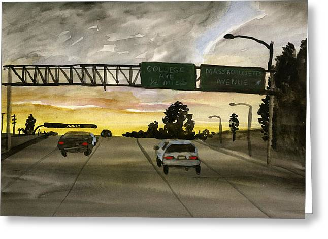 Sunset #28 Freeway Greeting Card