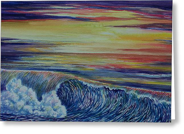 Sunset 3 Greeting Card by Arnold Hurley