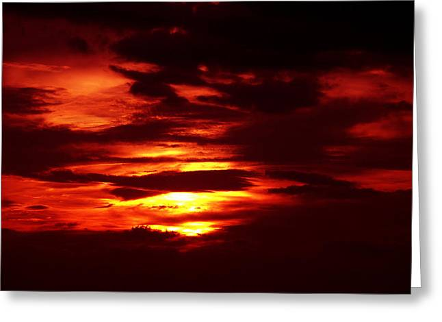 Sunset 3 Greeting Card by Evelyn Patrick