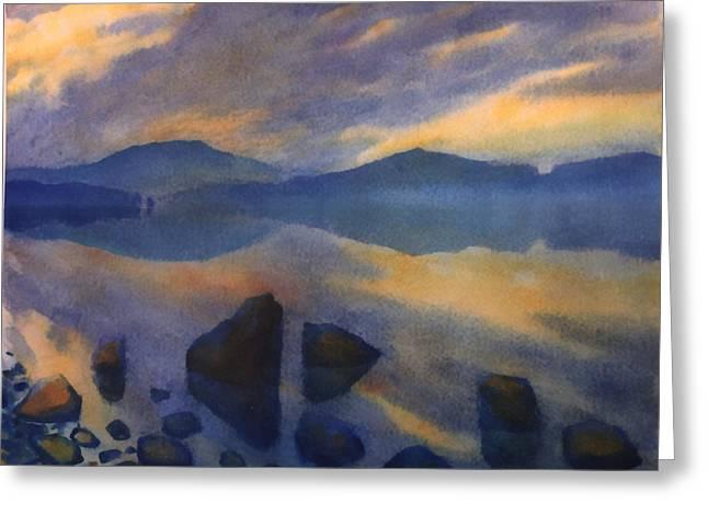 Sunset 3 Greeting Card by Valeriy Mavlo