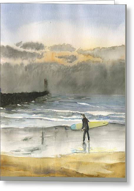 Sunset 34 Mission Beach Greeting Card