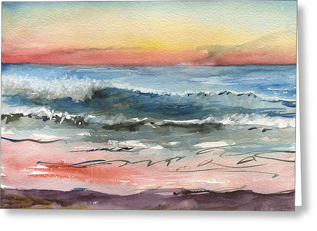 Sunset 39 Imperial Beach Greeting Card