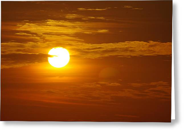 Sunset 4 Greeting Card by Don Prioleau