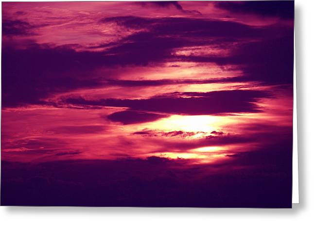 Sunset 4 Greeting Card by Evelyn Patrick