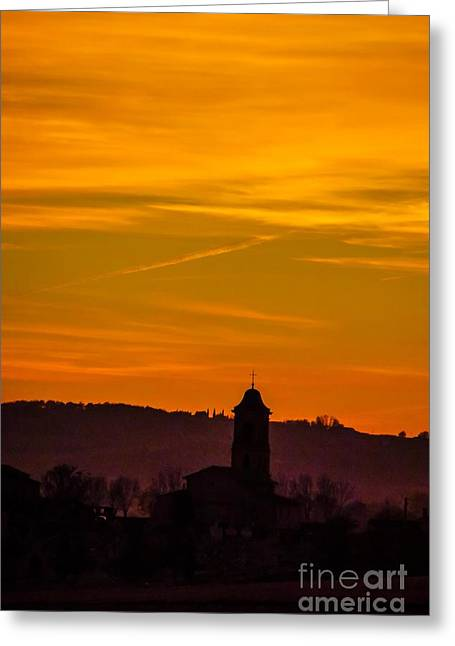 Sunset 6 Greeting Card by Jean Bernard Roussilhe