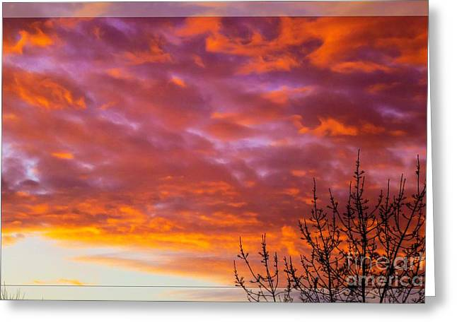 Sunset 7 Greeting Card by Jean Bernard Roussilhe