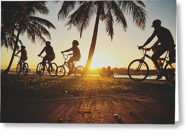 Greeting Card featuring the photograph Sunset Adventures Along The River At Noosaville by Keiran Lusk
