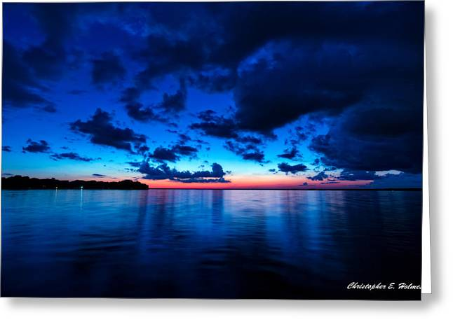 Greeting Card featuring the photograph Sunset After Glow by Christopher Holmes