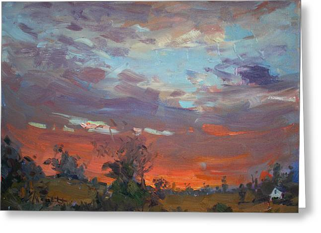Sunset After Thunderstorm Greeting Card by Ylli Haruni