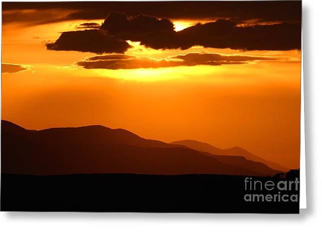 Greeting Card featuring the photograph Sunset Along Colorado Foothills by Max Allen