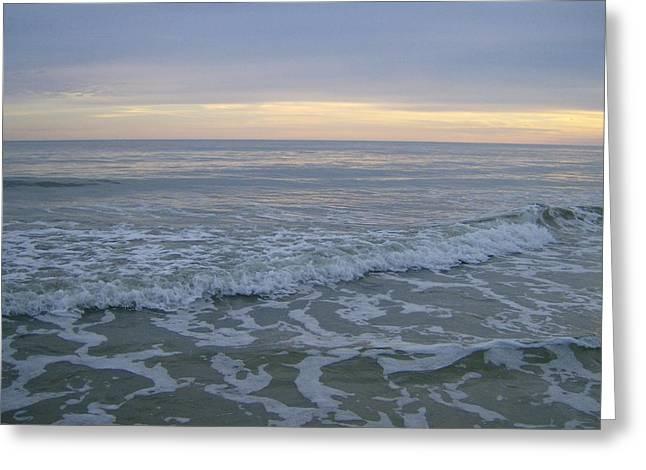 Sunset Along Oak Island Greeting Card by Skyler Tipton