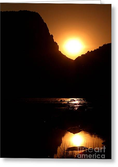 Greeting Card featuring the photograph Sunset Along The Yampa River by Max Allen