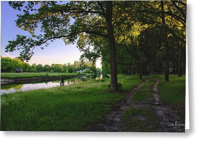 Sunset Alongside Willemsvaart  Greeting Card