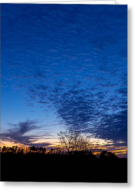 Sunset And Moon Sliver Greeting Card