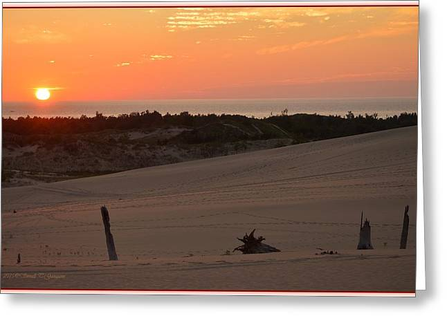 Sunset And Sand Dunes Greeting Card